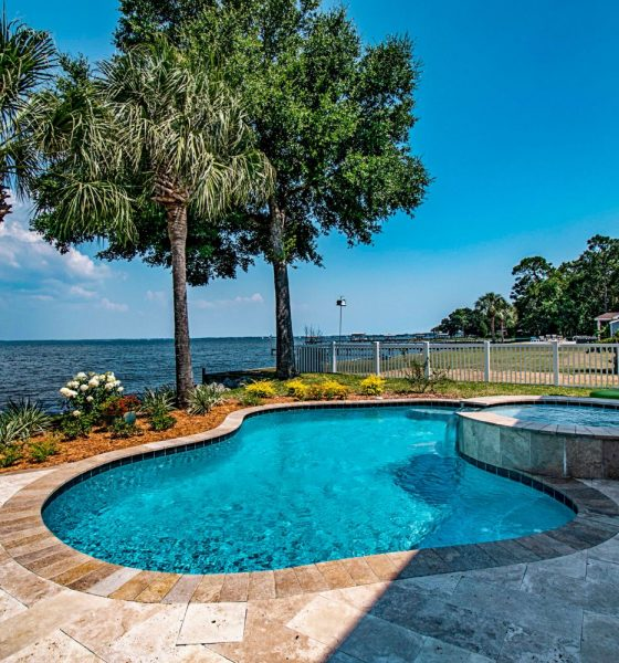 Why are most luxury pools gunite pools?