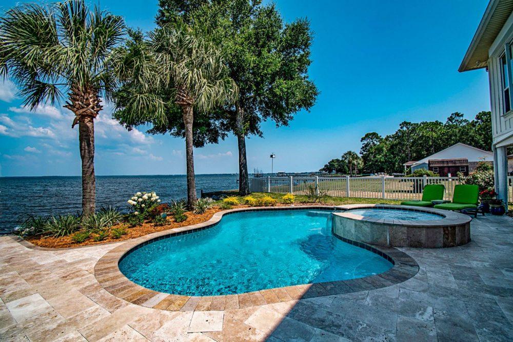 Why are most luxury pools gunite pools?