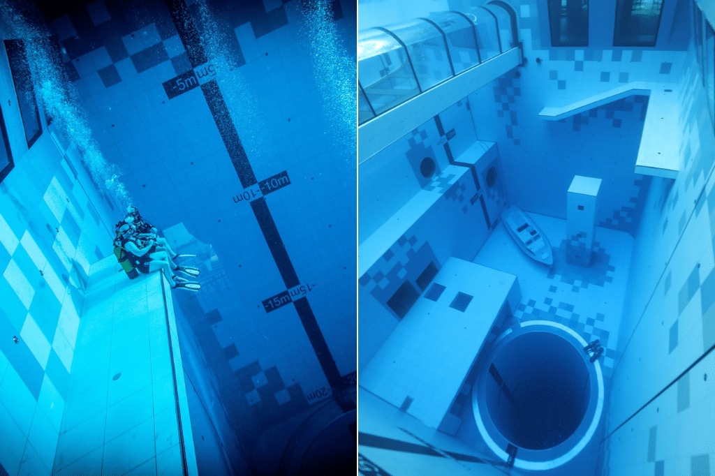 Deepspot is the Deepest Swimming Pool in the World at 45 meters deep.
