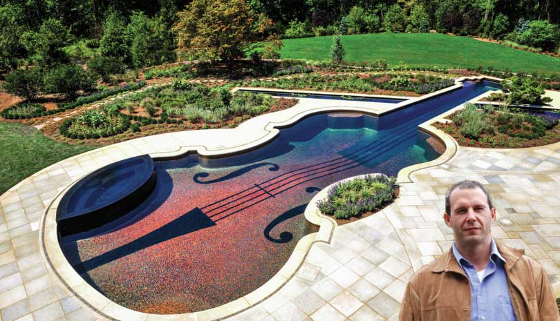 Violin Pool designed by Chris Cipriano