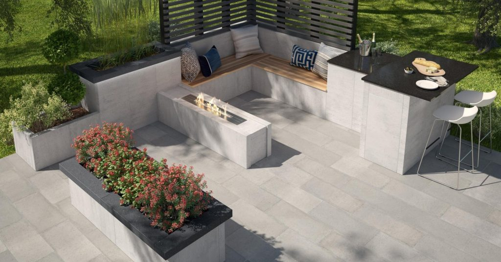 Belgard Artforms is a new modular concrete panel system.
