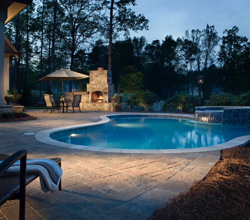 Pavers are a popular option when building a pool deck most pool builders agree Belgard pavers create a sophisticated look.