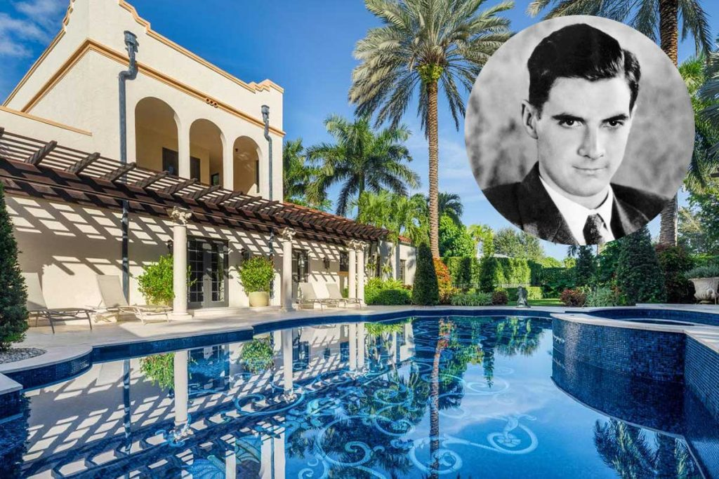 Howard Hughes had this home built in 1926 - Recently Ray Corral's mosaic tile interior now graces the swimming pool of this icon landmark home in Coral Gables, Florida.