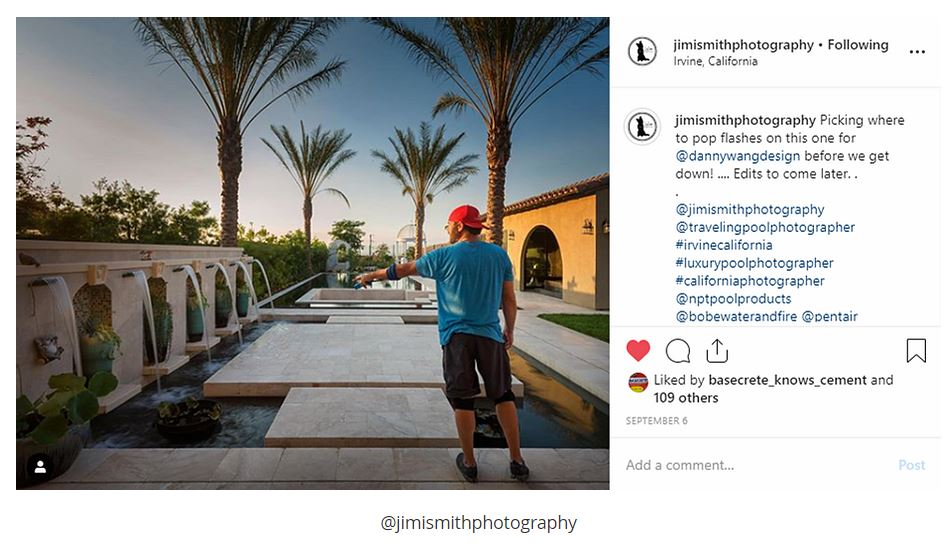 Jimi Smith's work takes him all over the glob as he photographs some of the pool industries most elaborate luxury pools.