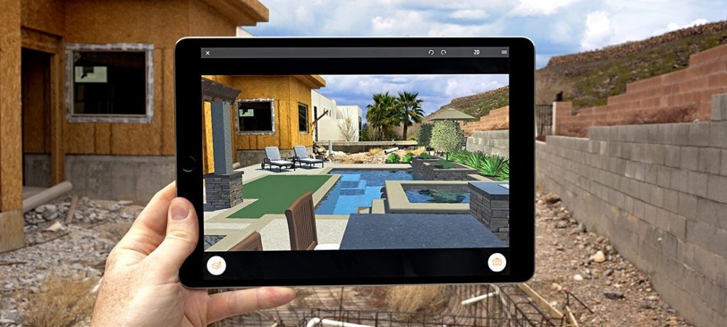 Augmented Reality is one of the emerging technologies Structure Studios has invested in - Seen here: YARD (Your Augmented Reality Designer) app which enables homeowners to visualize pool designs in real time.