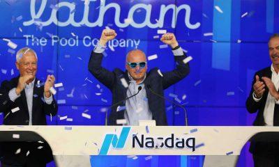 Latham IPO - Latham Group - Scott Rajeski ringing the opening bell as SWIM begins trading on NASDAQesk