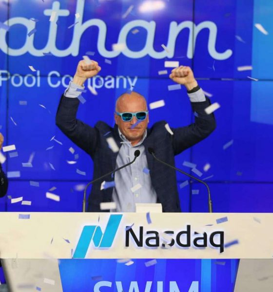 Latham IPO - Latham Group - Scott Rajeski ringing the opening bell as SWIM begins trading on NASDAQesk