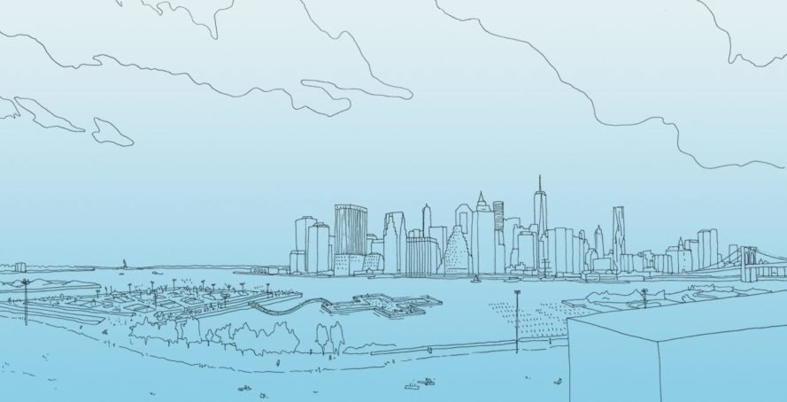 Wong and his team envision a natural body of water in the East River that will be clean enough to swim in.