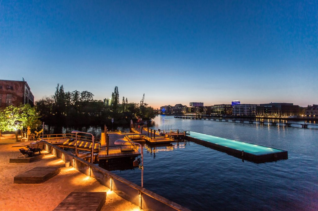 Badeschiff Pool - Floating Pool in Berlin Germany is a tourist destination