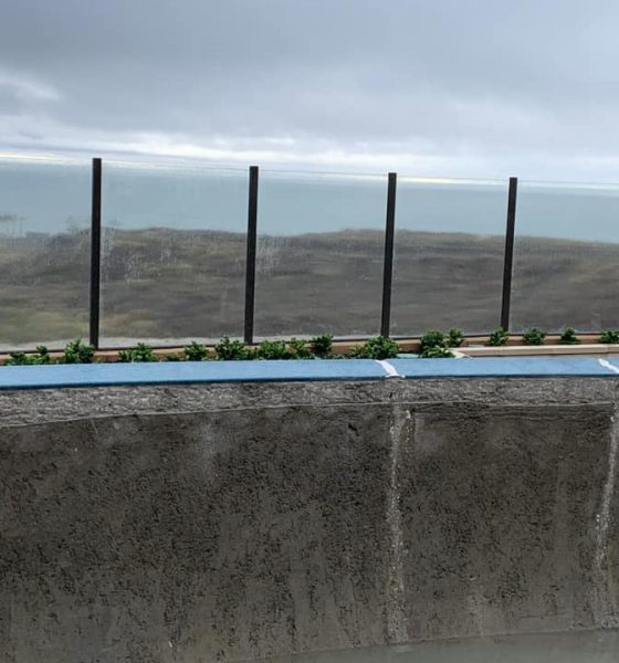Grant Smith explaining water dampening - concrete cracks