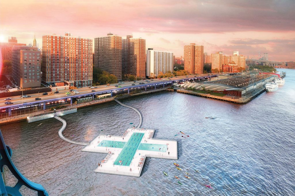 Wong envision the floating Plus Pool will mimic the flow rate of the river to constantly refresh the water supply.