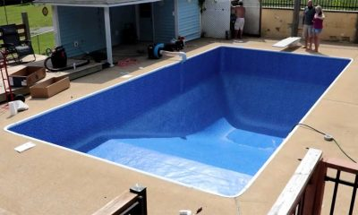 Vinyl Liner Replacement in Pool is so Satisfying to Watch - Time Lapse Video