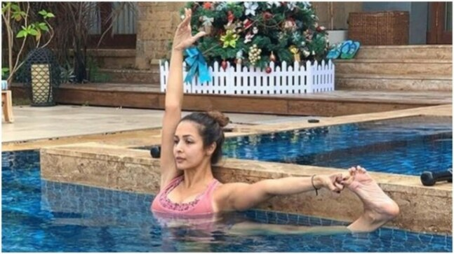 Doing yoga in the pool? Grab your swim suit and leave the yoga pants for the gym.