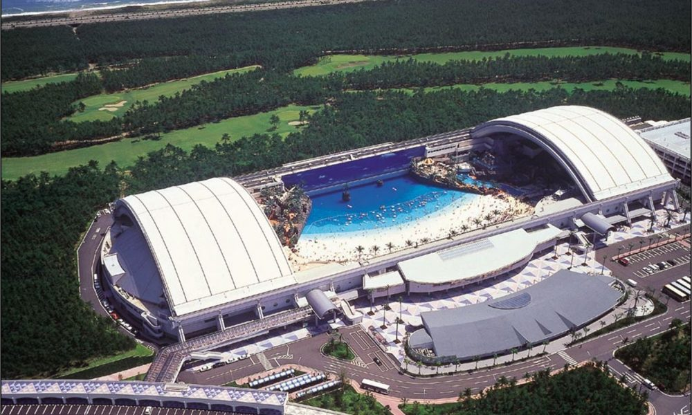 Ocean Dome held the title for largest indoor waterpark at one time.
