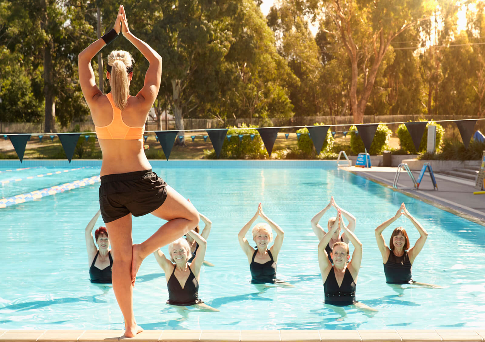Yoga In The Pool is Easy To Do