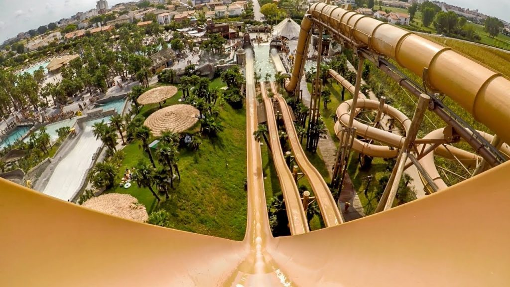 Captain Spacemaker at the Aqualandia park in Venice Italy holds the title as the 3rd tallest water slide in the world.