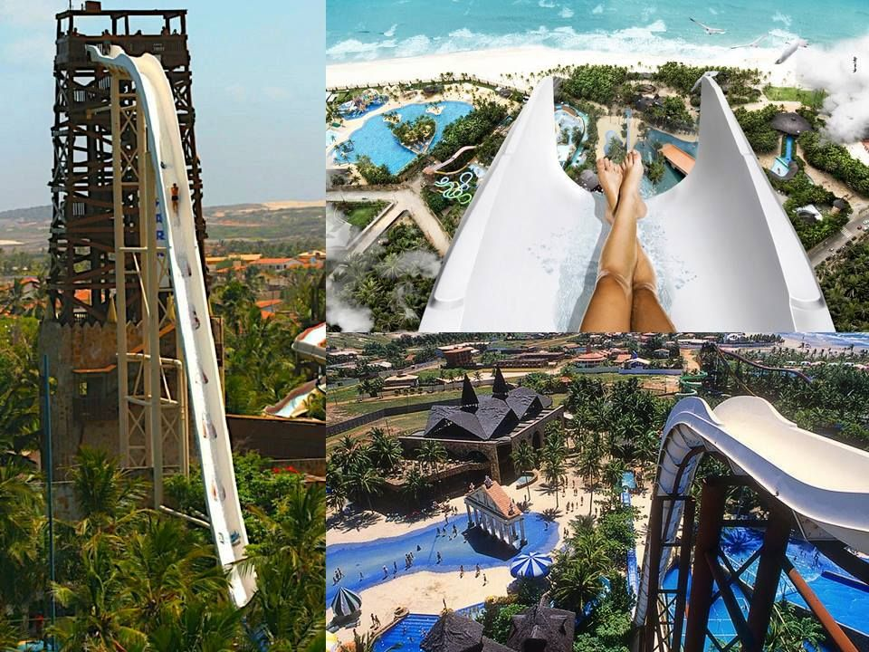 One of the tallest waterslides in the world is the Insano waterslide in Brazil coming in at #4 on the list.