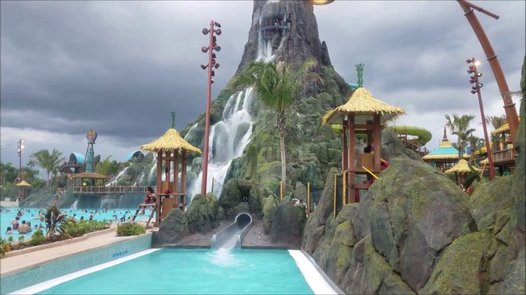 At 125 tall - Ko'okiri Body Plunge is the tallest water slide in the United States