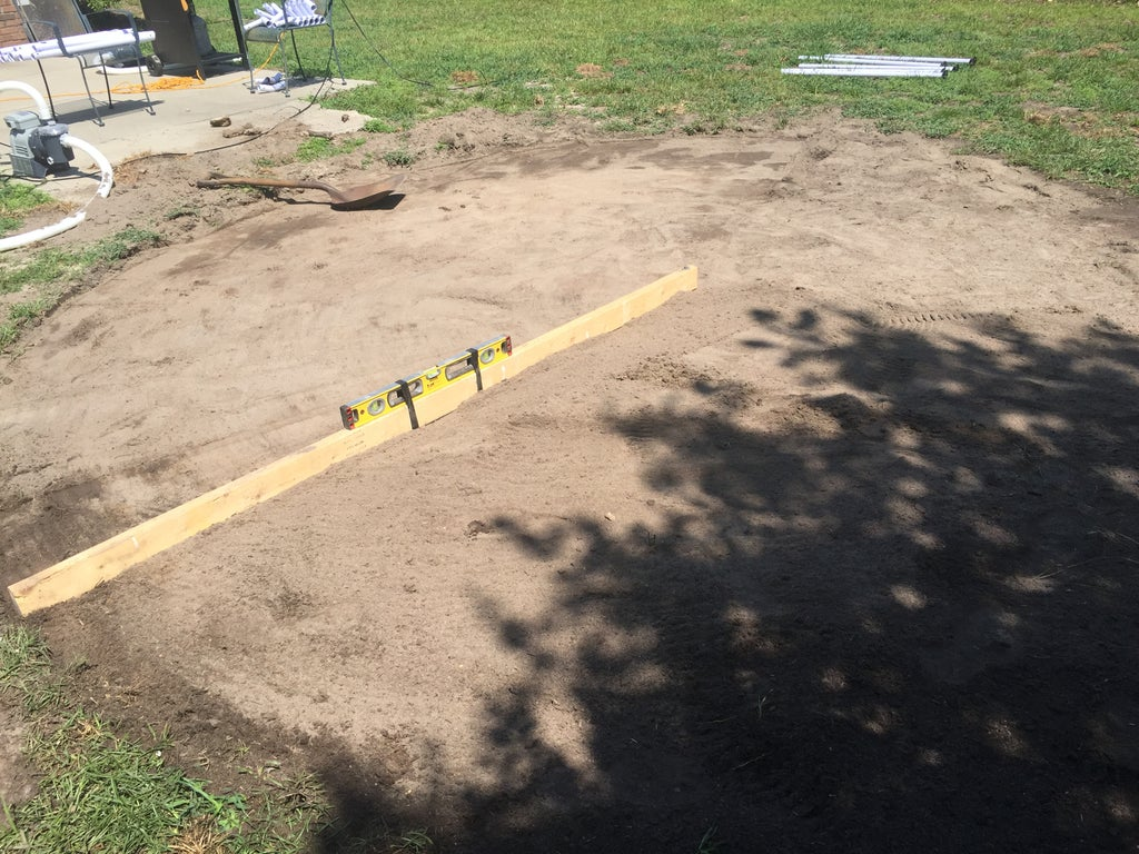 Leveling the ground for a pool in your backyard involves several steps.