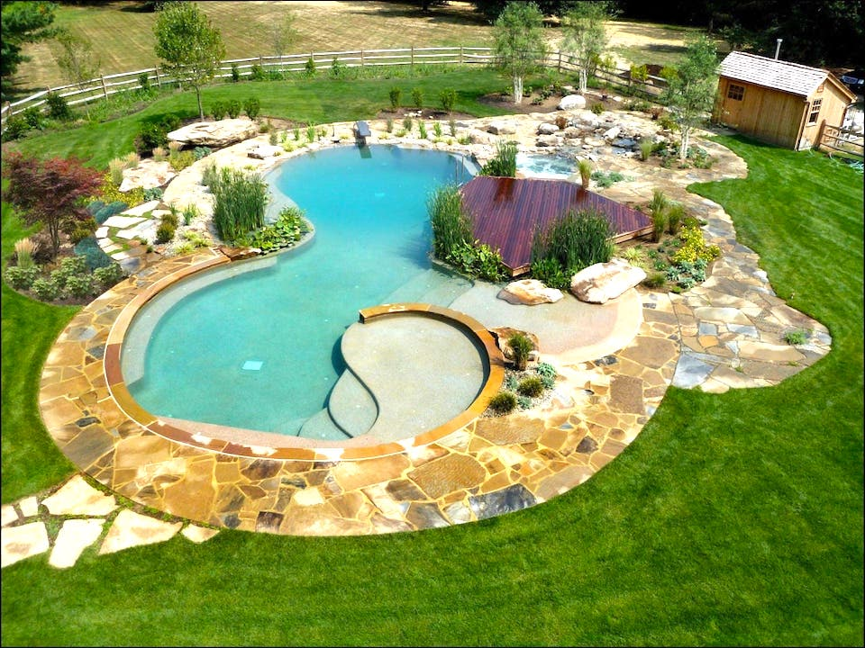 This photo of a natural pool appears to have the blue water U.S. consumers expect in a chlorine pool.
