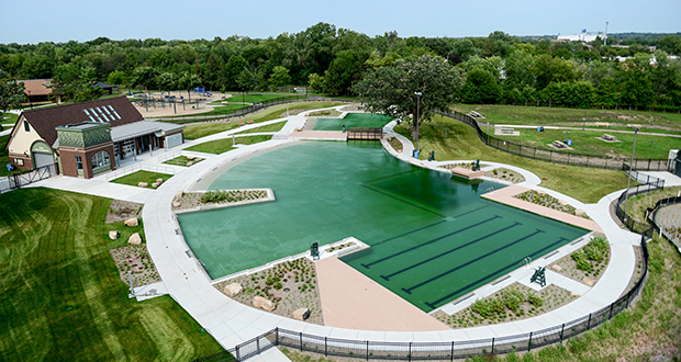 Webber Parks Natural Pool in Minneapolis