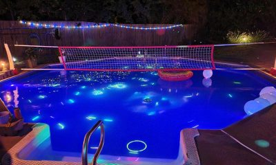 Glow Stick Pool Party Idea - A great idea for night time fun in the pool.