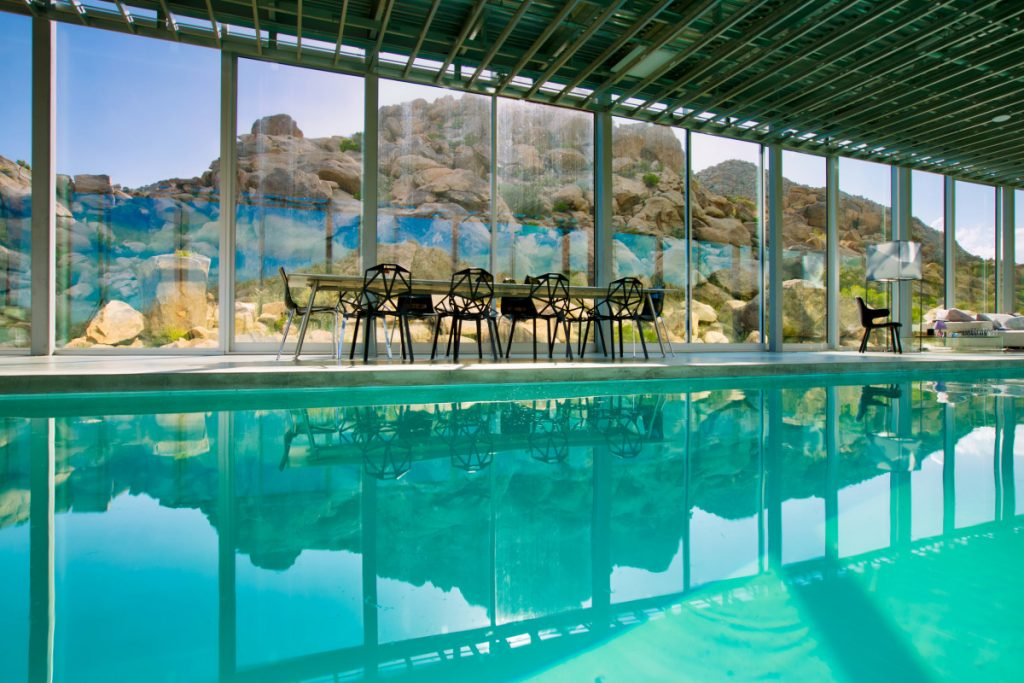 Invisible House Pool - Joshua Tree Mirror House Indoor Pool