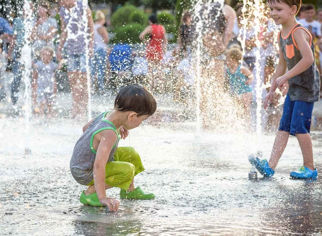 Cryptosporidium is something to be mindful of when it comes to small children interacting with spray parks & splash pads.