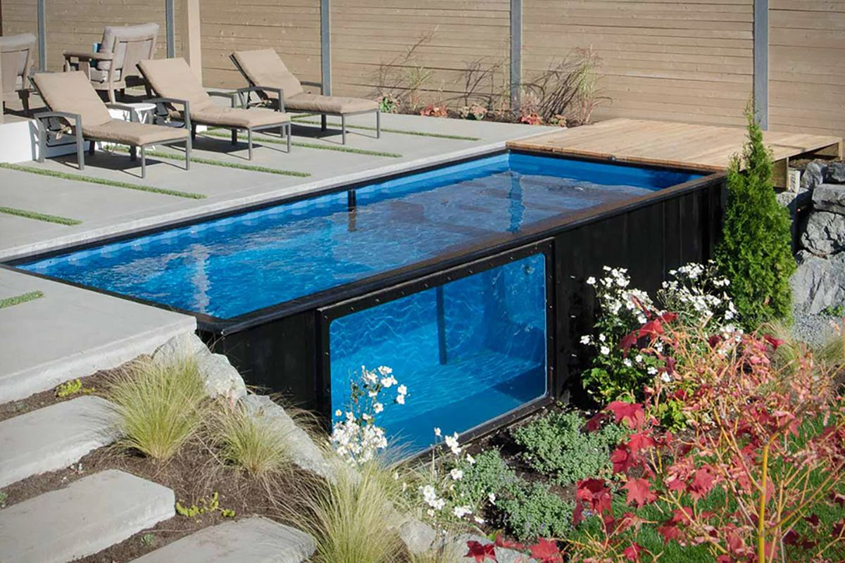 Shipping container pools are becoming increasingly popular with pool buyers.