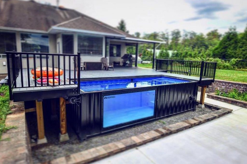 Shipping container swimming pool is a popular option with homeowners in 2021.