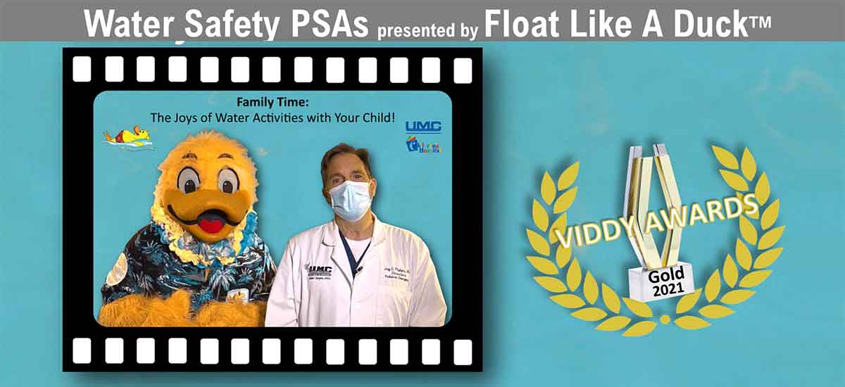 Water Safety PSA - Float Like A Duck Wins Viddy Award