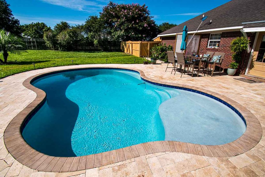 Gunite pools offer the most flexibility in terms of shapes and materials.