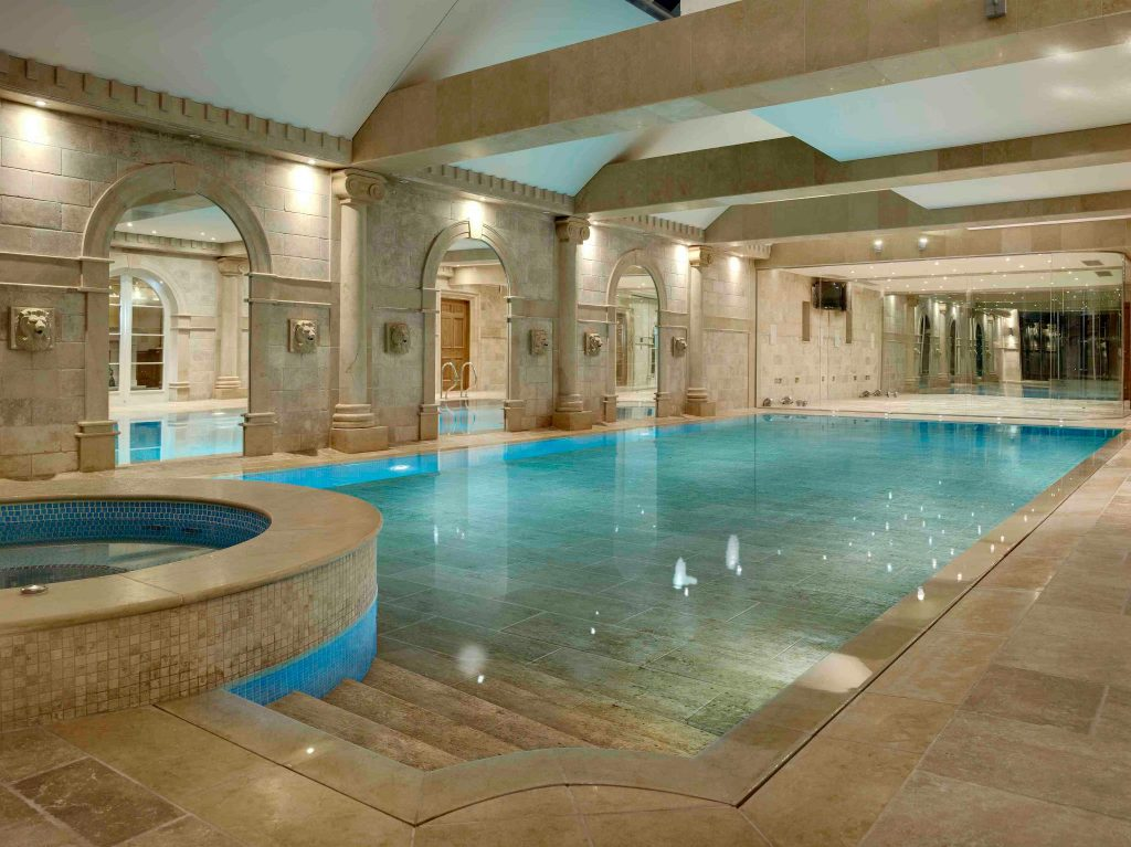 A movable pool floor system such as this is a luxury pool feature that can exceed several million dollars.