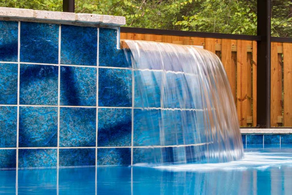 Large format pool tile is enormously popular this year.