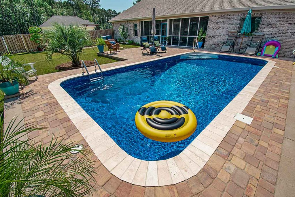 Simple inground pool that is perfect for most regular homes.