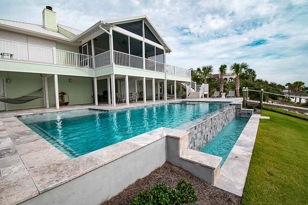 Vanishing edge pools are a luxury that homeowners investing in an inground pool seem to want.