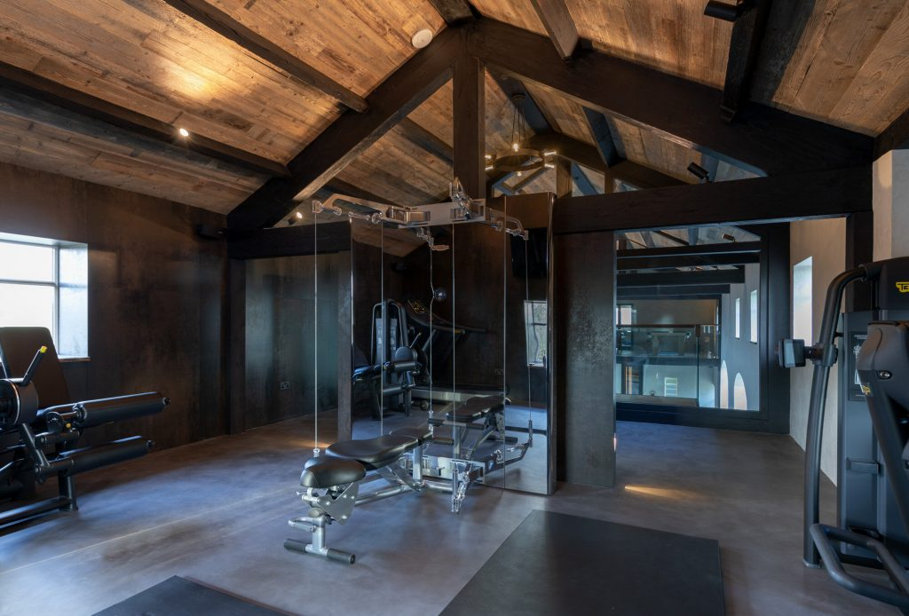 Pool House Gym - Award Winning Pool House Design