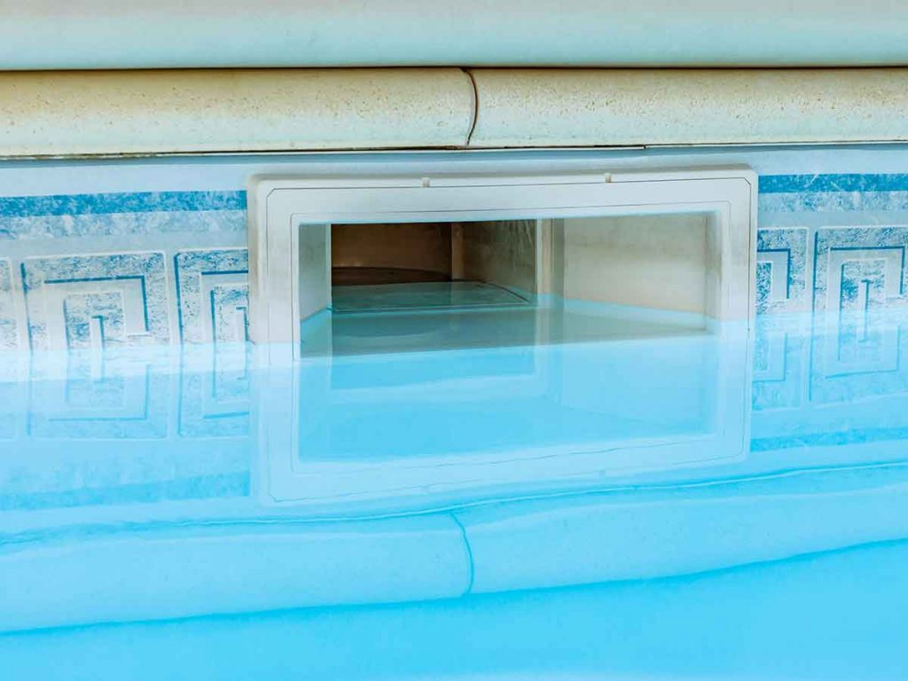 The most common pool leak usually occurs in the skimmer