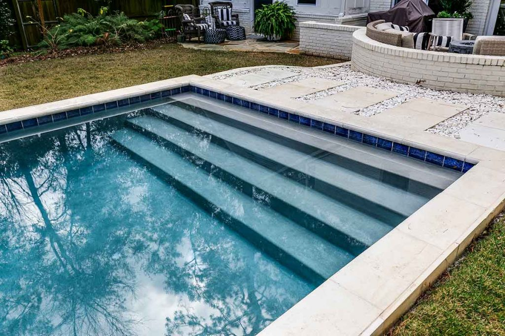 Stairs are an important design aspect in an inground pool.