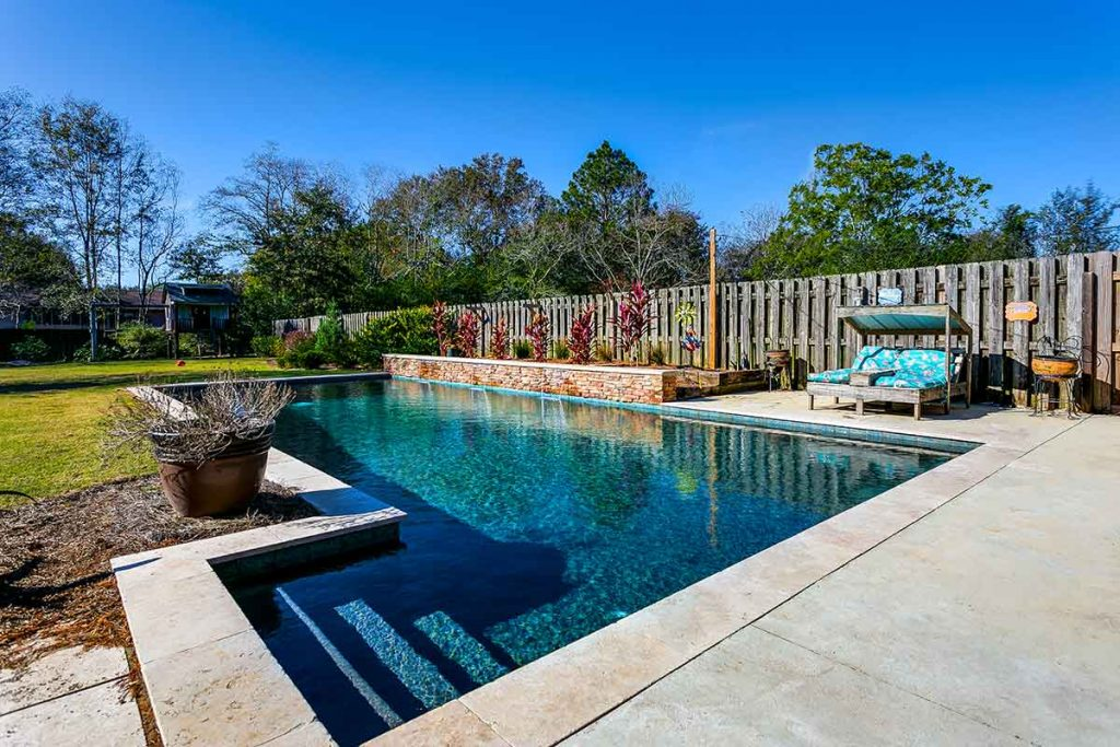 Geometric shaped pool designs are becoming increasingly popular.
