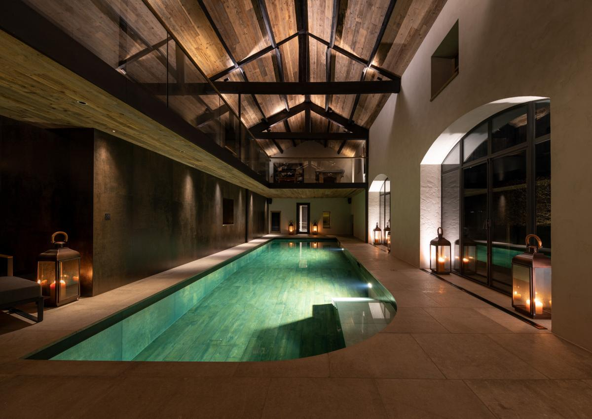 Pool House is an award winning residential indoor pool built by Design Emporium - (Best Residential Pool - International Design & Architecture Awards)